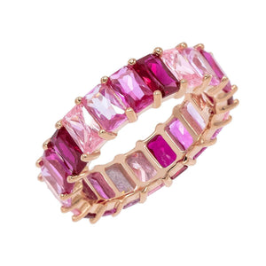 Ombré Pink Eternity Band Magenta / 5 - Adina's Jewels