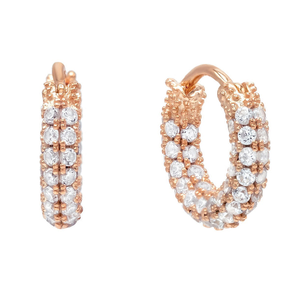Mini Pavé Hoop Earring - Adina's Jewels