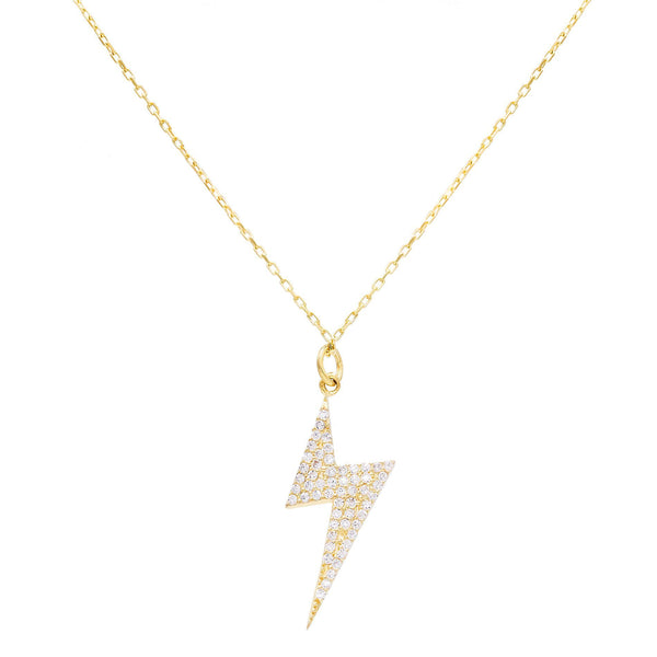 CZ Bolt Necklace - Adina's Jewels