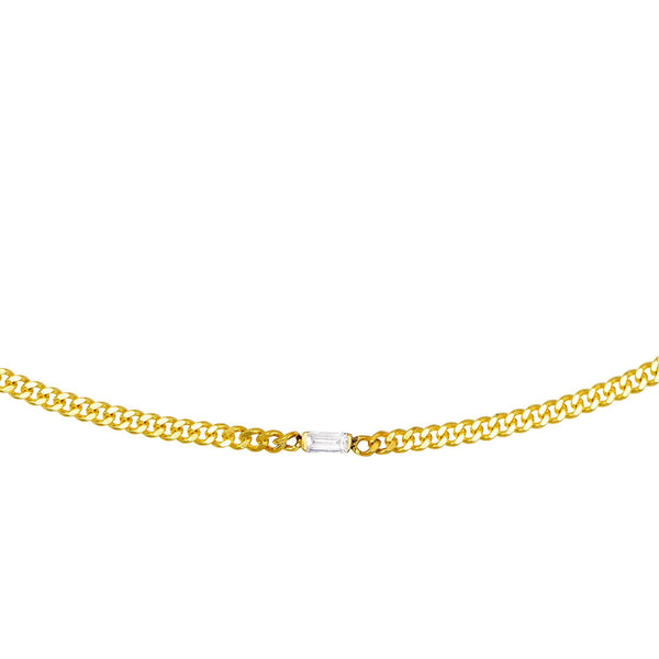 Gold Stone Chain Choker - Adina's Jewels
