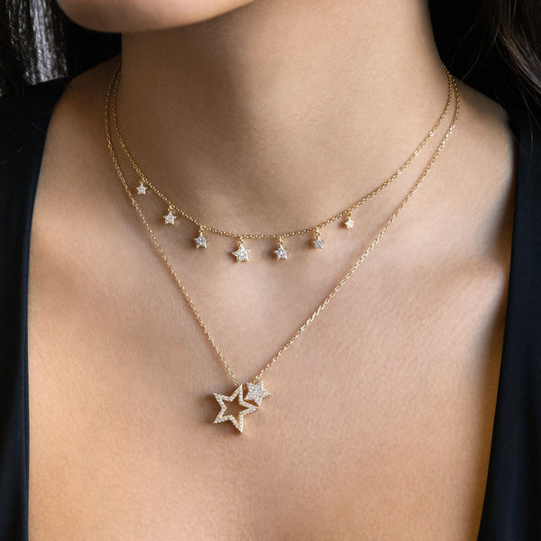 Stars Charm Necklace - Adina's Jewels