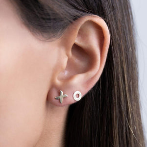 XO Stud Earring 14K - Adina's Jewels