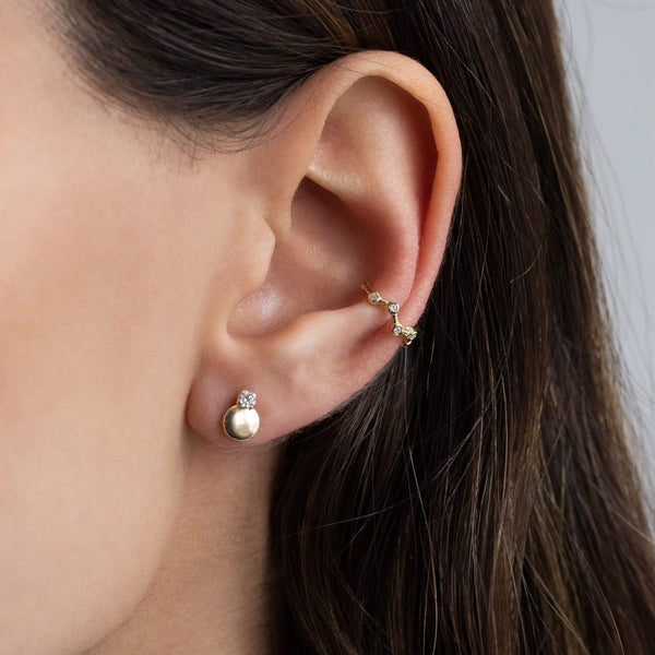 Bezel Strand Ear Cuff - Adina's Jewels