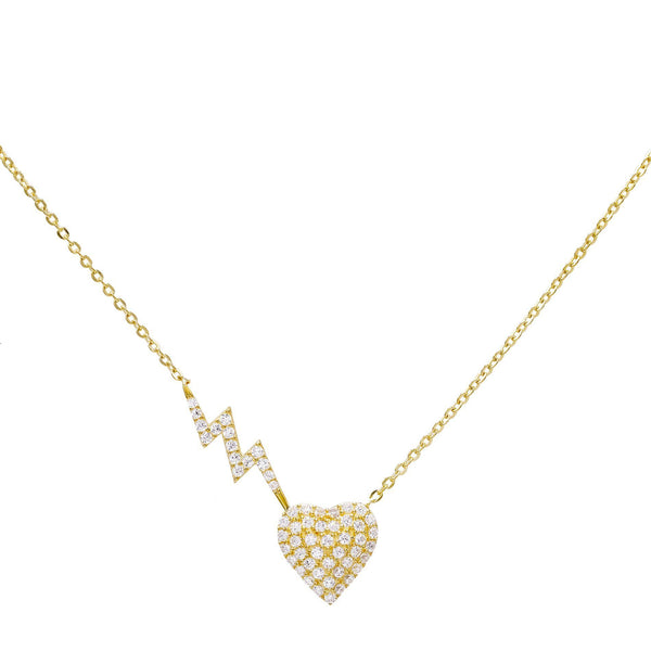 Gold Heart-Struck Necklace - Adina's Jewels