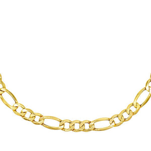 XL Hollow Figaro Choker 14K 14K Gold - Adina's Jewels