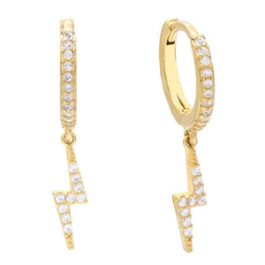 Lightning Huggie Earring Gold - Adina's Jewels