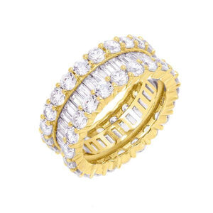 CZ Baguette Eternity Band Gold / 9 - Adina's Jewels