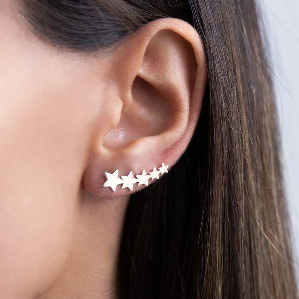 Stars Ear Climber 14K - Adina's Jewels
