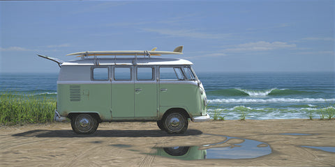 """Beach Bus"" on canvas"