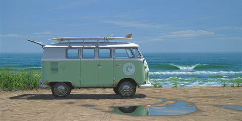 """Cisco Beach Bus"" on canvas"