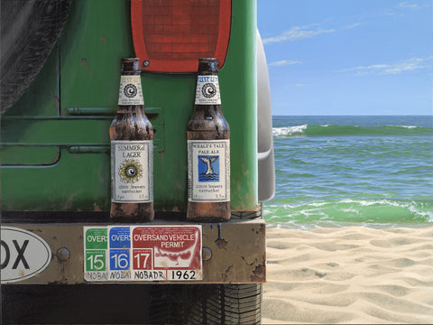 """Beach Beers"" on canvas"
