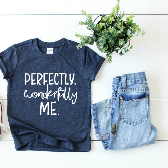 Perfectly, Wonderfully Me - Feeding Littles Threads of Heart KIDS Tee