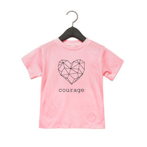 Courage Heart CHD Awareness Kids Threads of Heart Tee