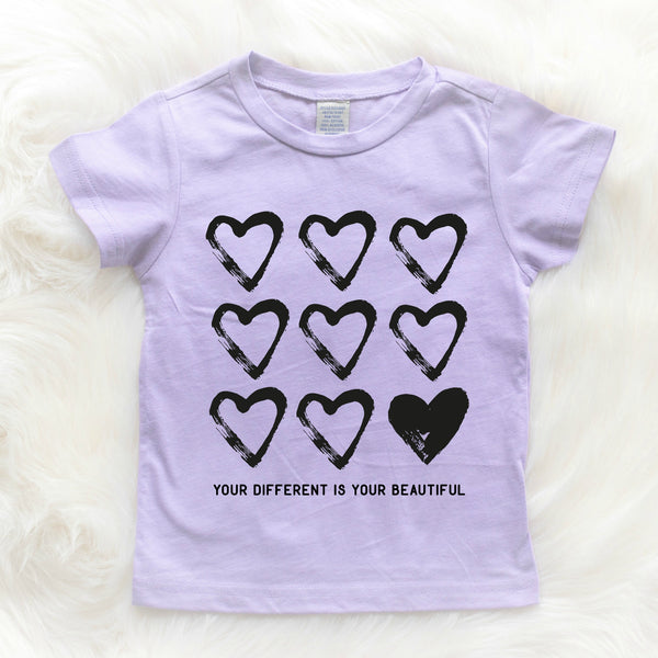 {10-12Y} Your different is your beautiful Kids Tees