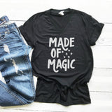 Made Of Magic BLACK V NECK Halloween Tee