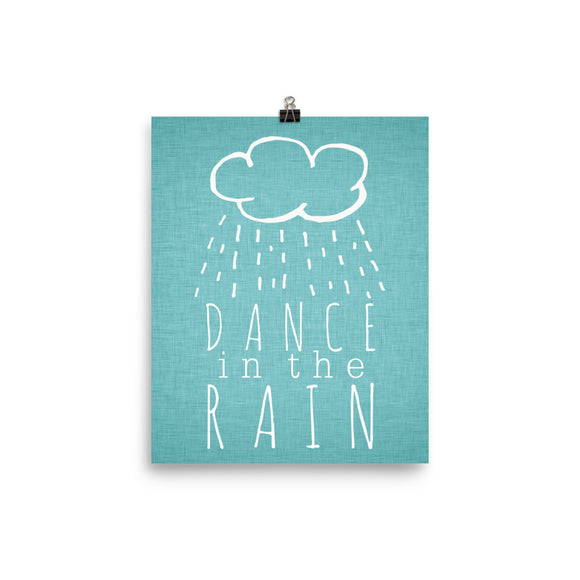 Dance in the rain - Photo paper poster