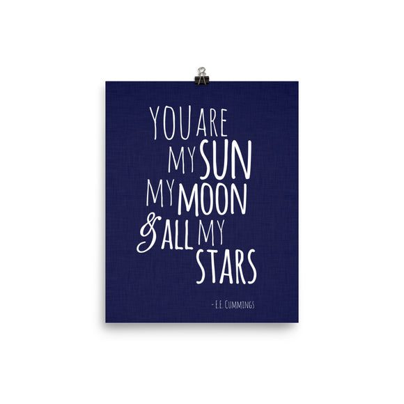 You are my sun - Photo paper poster