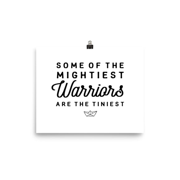 Mightiest Warrior White Photo paper poster