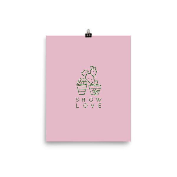 Show Love Pink Photo paper poster