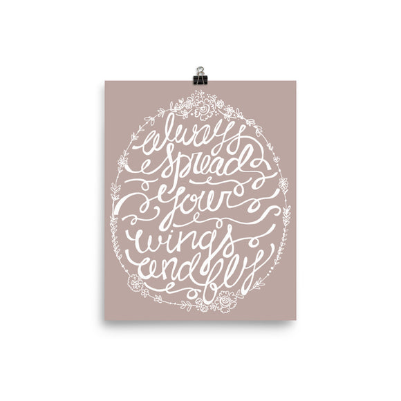Spread your wings - Photo paper poster