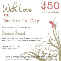 $50.00 Mothers Day eGift Certificate