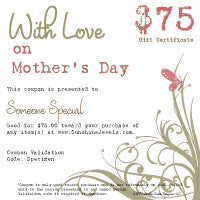 $75.00 Mothers Day eGift Certificate