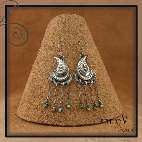 Perfectly Peacock Swarovski Earrings