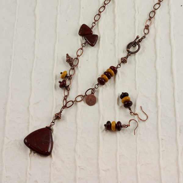 Teamwork Necklace Earring Set