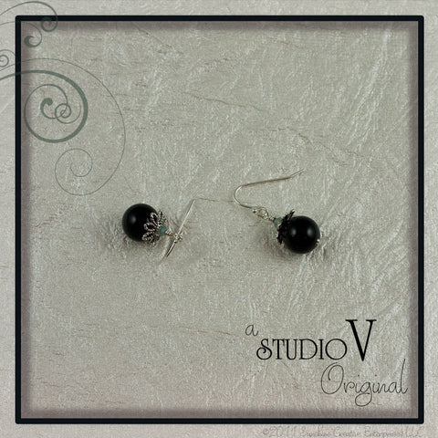 Black Merry Berry Earrings