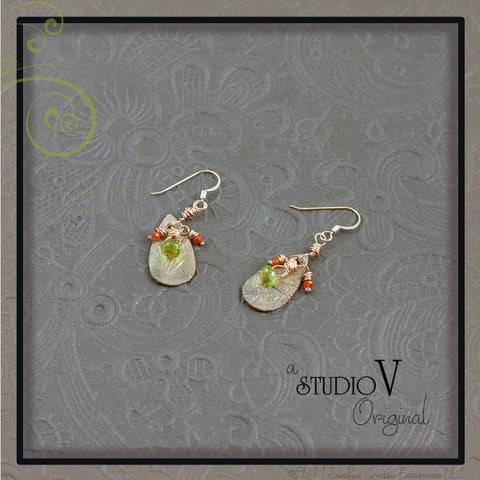 Summer Poppy Earrings