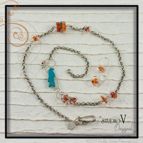 Bird in Paradise Necklace Set