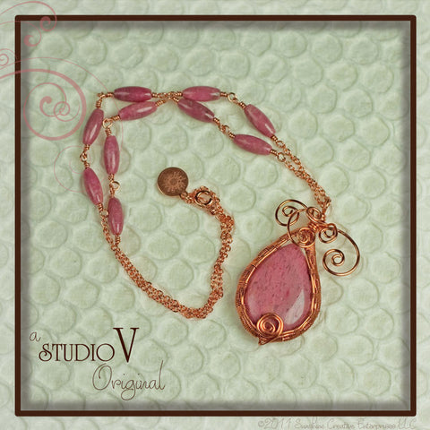Pink Paisley Necklace