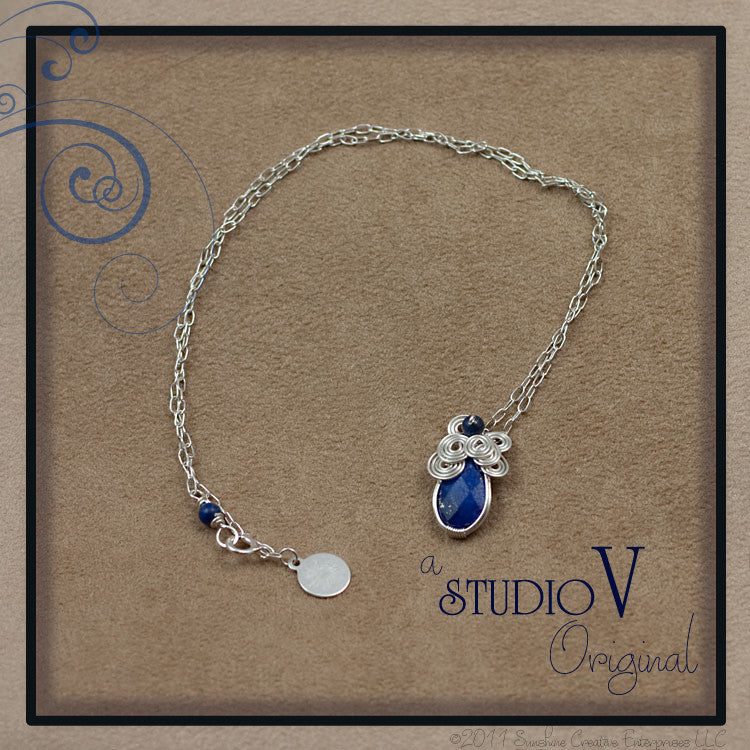 Petite Lapis Wrap Necklace
