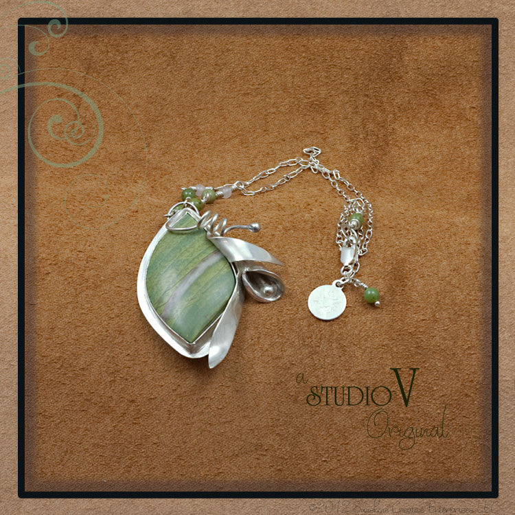 Lily Leaves Necklace