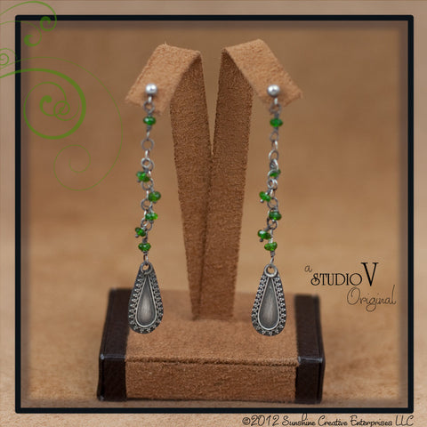 Fresh Green Garnet Earrings
