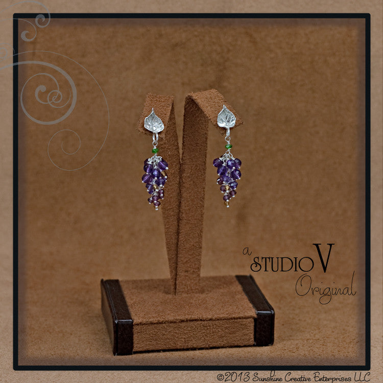 Gemmy Grape Cluster Earrings