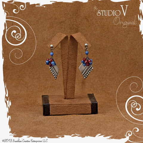 Beady Boho Tapestry Earrings