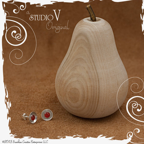 Cup O Carnelian Earrings