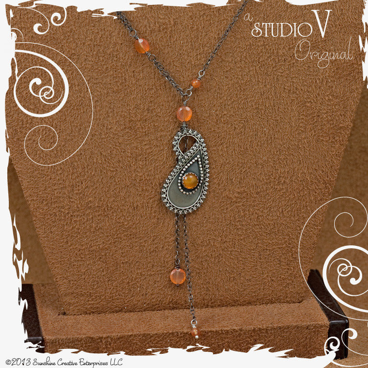 Serenity Paisley Carnelian Necklace