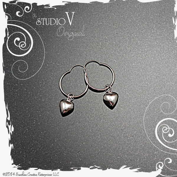 Heart-full Hoop Earrings
