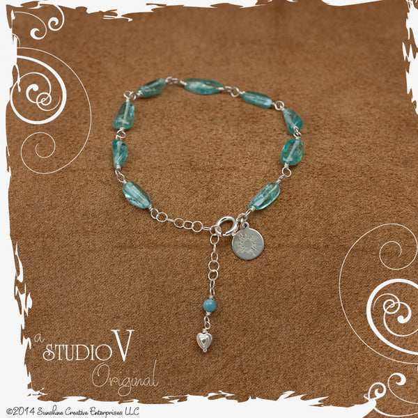 Sweet Little Apatite Bracelet