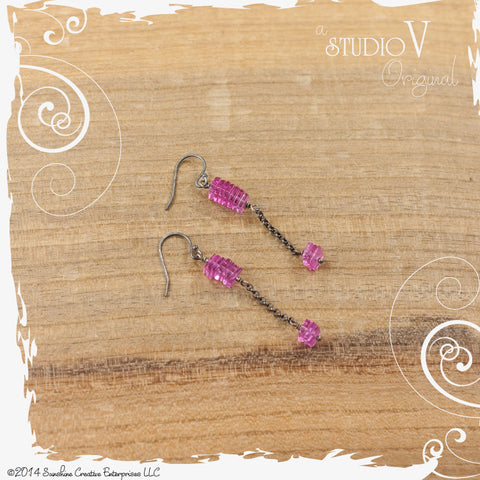 Hot Pink Ministack Earrings
