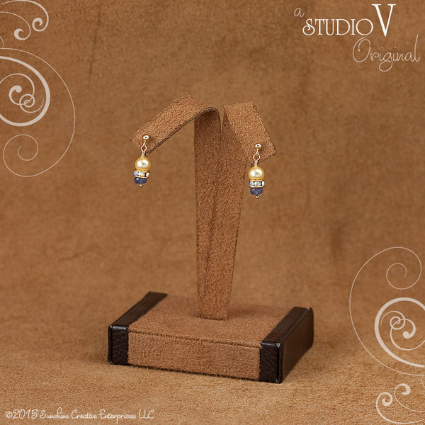 Classic Tanzanite Yellow Swarovski Earrings