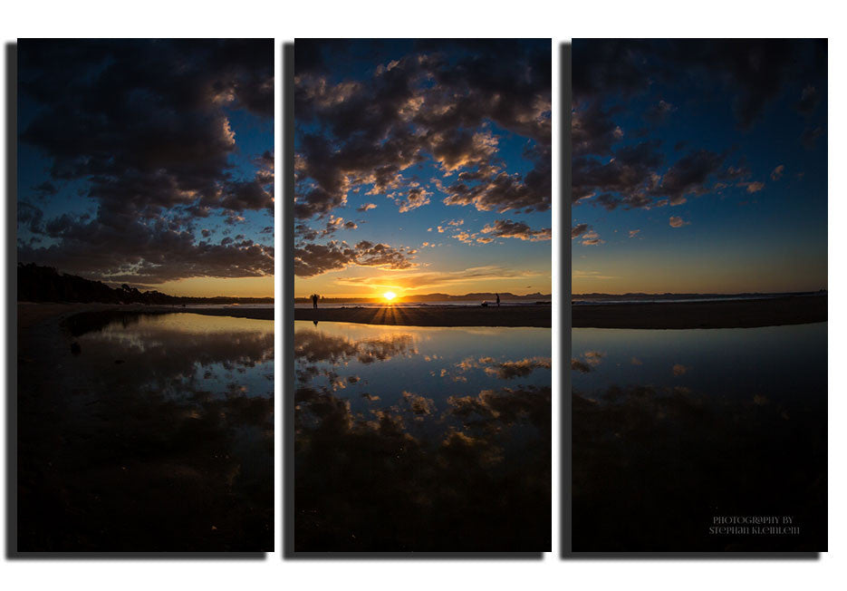 Sunset Refection - Triptysh