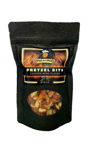 WING-A-LINGS Pretzel Bits (smoked chicken wing flavor)