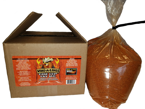 WING-A-LINGS Dry Bone Dust Dry Rub - 5LB Bulk Bag-In-A-Box