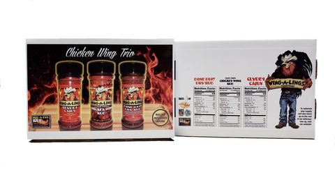 WING-A-LINGS Chicken Wing Trio - Gift Box