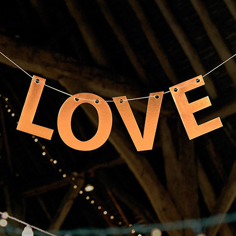 David Tutera Die Cut Letter Garland-Love-Copper