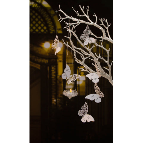 David Tutera Illusions Die Cut Butterfly Paper Place Cards- White