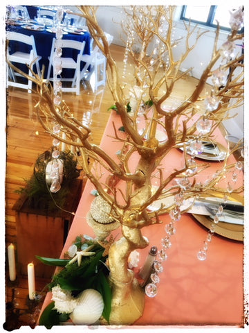 "30"" Glittered Manzanita Gold Tree Centerpiece"